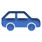 Blue Icon of a Car Linked to the Automobile Insurance Page
