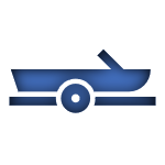 Blue Icon of a Boat Linked to the Boat Insurance Page