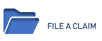 Blue Image of a folder and the words File a Claim linked to the File a Claim Page
