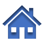 Blue Icon of a Home Linked to the Homeowners Insurance Page